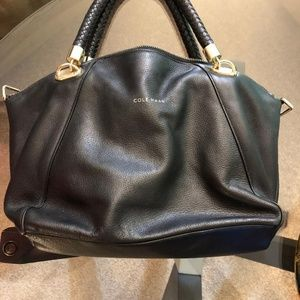 Cole Haan Bags - Cole Haan Leather Bag with Braided Handles
